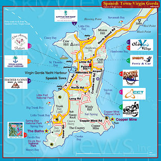 gorda map virgin Tortola